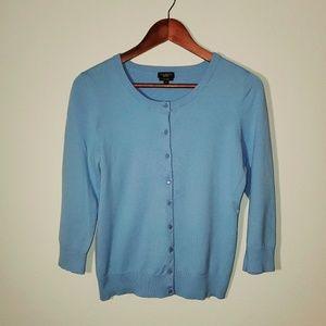 Talbots Pima Cotton Light Blue Cardigan